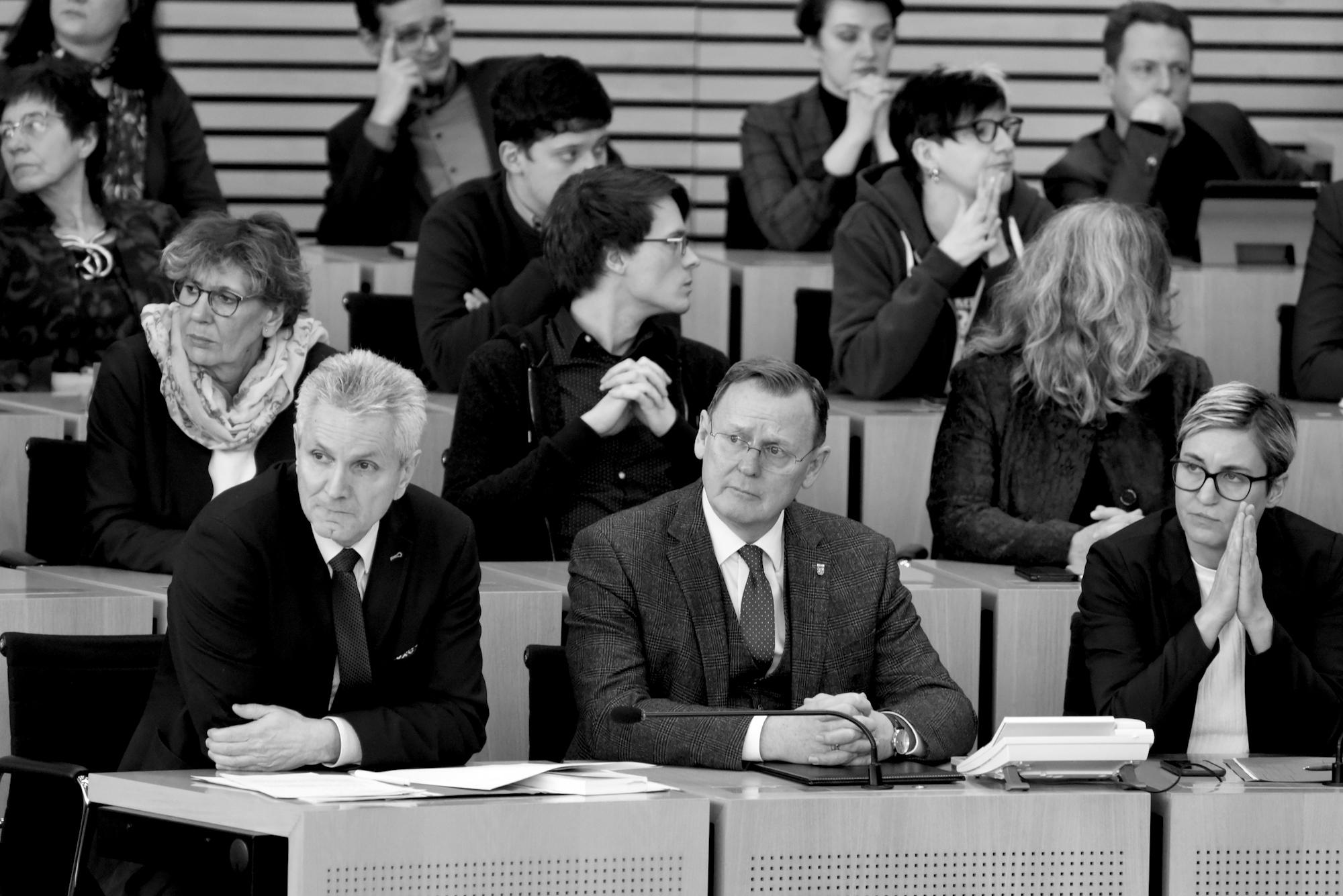 Blick in die Fraktion DIE LINKE im Thüringer LAndtag am 5. Februar 2020