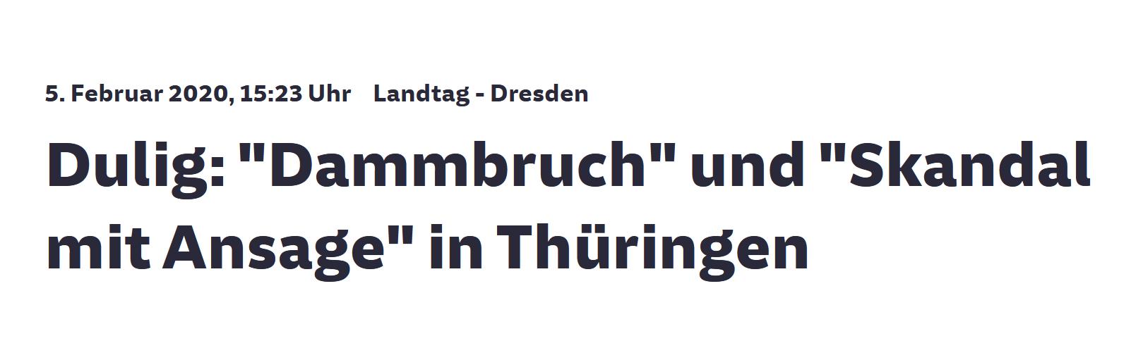 """""""Dulig: 'Dammbruch' und 'Skandal mit Ansage' in Thüringen"""""""